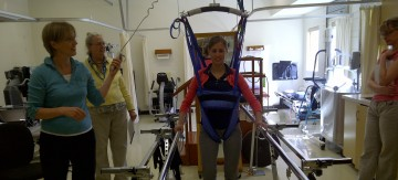 Trying the equipment at South Okanagan General Hospital in Oliver, BC
