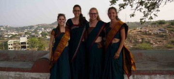 MPT2 students on placement at Samuha Samarthya [L-R]: Madison Morrison, Josina Rhebergen, Krysta Wark, Sara Kloosterboer