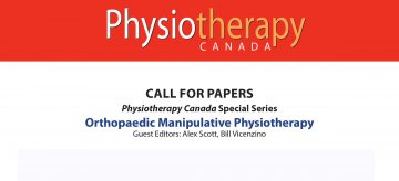Alex Scott as a guest editor of a special issue on manual therapy calling for papers